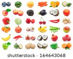 collection of various fruits...   Shutterstock . vector #164643068