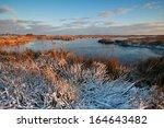 morning sunlight over winter...   Shutterstock . vector #164643482