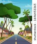 cartoon flat landscape local... | Shutterstock .eps vector #1646453365