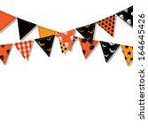 halloween bunting flags  vector ...   Shutterstock .eps vector #164645426