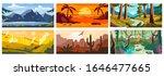 landscape background  beautiful ... | Shutterstock .eps vector #1646477665