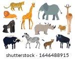african animals  set of... | Shutterstock .eps vector #1646488915