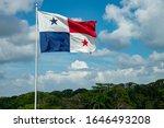 Panama Flag Waving In The Wind