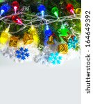 christmas garland with... | Shutterstock . vector #164649392