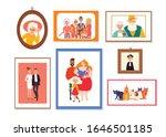 set of family picture frames... | Shutterstock .eps vector #1646501185