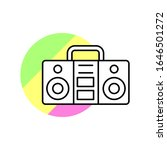 music boom box icon. simple...