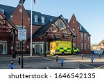 Small photo of 06.02.2020 Wigan and Leigh Infirmary, Wigan, Greater Manchester, UK External views of Wigan hospital including signage and ambulances