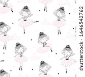 cute hand drawn with cute...   Shutterstock .eps vector #1646542762