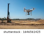 A Drone Survey At Construction...