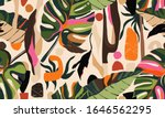 modern exotic jungle plants...   Shutterstock .eps vector #1646562295