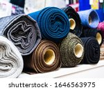 Rolls Of Shiny Knitted Fabric...