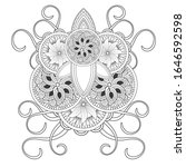 colouring page for adult for... | Shutterstock .eps vector #1646592598