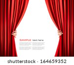 background with red velvet... | Shutterstock .eps vector #164659352