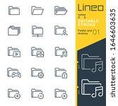 line editable stroke   folder... | Shutterstock .eps vector #1646603635