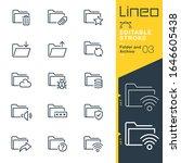 lineo editable stroke   folder... | Shutterstock .eps vector #1646605438
