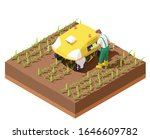 vector isometric agricultural...   Shutterstock .eps vector #1646609782