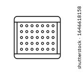 element layered mattress icon....