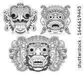 traditional masks used for... | Shutterstock .eps vector #1646619445