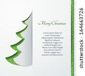 banner with a paper christmas... | Shutterstock .eps vector #164663726