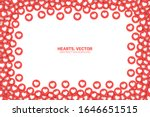 vector hearts red flat icons... | Shutterstock .eps vector #1646651515