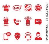 sos  alarm or help signals ...   Shutterstock .eps vector #1646675428