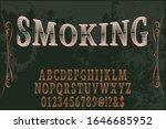 abc font alphabet script... | Shutterstock .eps vector #1646685952