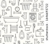 seamless pattern with line...   Shutterstock .eps vector #1646693722