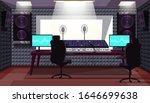 empty sound recording studio... | Shutterstock .eps vector #1646699638