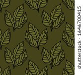 tobacco leaves seamless doodle... | Shutterstock .eps vector #1646700415