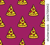 pizza seamless doodle pattern ... | Shutterstock .eps vector #1646700442