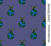 earth seamless doodle pattern ... | Shutterstock .eps vector #1646700448