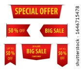 red banner special offer and... | Shutterstock .eps vector #1646715478