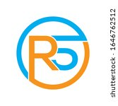 Creative RS, R5 circle linked logo design template suitable forPrint, Digital, Icon, Apps, print T-Shirts and Other Marketing Material Purpose
