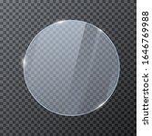 round glass banner. glossy... | Shutterstock .eps vector #1646769988