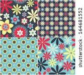 set of vector seamless pattern... | Shutterstock .eps vector #164681552