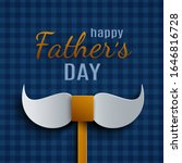 happy father's day greeting... | Shutterstock .eps vector #1646816728