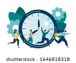 vector illustration  work time... | Shutterstock .eps vector #1646818318