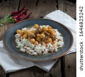 Small photo of Indispensable food of Turks is rice with chickpeas.