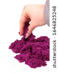 Purple  Kinetic Sand In Hand...
