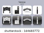 landmarks of venice. set of...   Shutterstock .eps vector #164683772