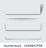 realistic  page shadows set on... | Shutterstock .eps vector #1646841958