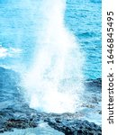 Lava Blowholes In Hawaii. The...
