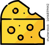 swiss cheese hand drawn icon | Shutterstock .eps vector #1646859442