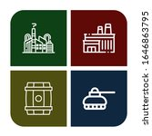 refinery icon set. collection... | Shutterstock .eps vector #1646863795