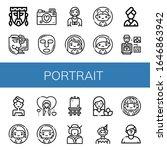 portrait simple icons set.... | Shutterstock .eps vector #1646863942