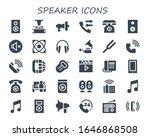 modern simple set of speaker... | Shutterstock .eps vector #1646868508