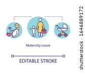 maternity leave concept icon....   Shutterstock .eps vector #1646889172