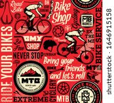 vector bicycle seamless pattern ... | Shutterstock .eps vector #1646915158