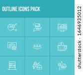 commerce icon set and debit...