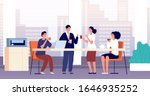 office coffee break. business... | Shutterstock .eps vector #1646935252